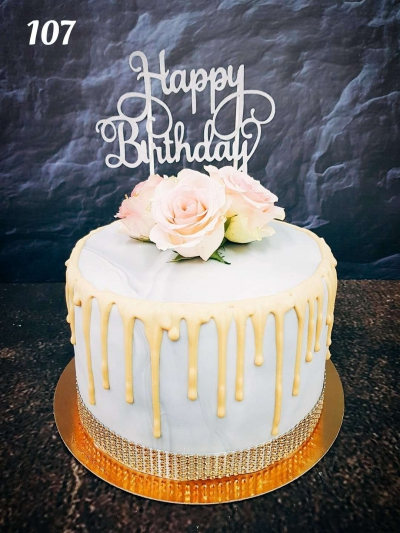 Drip Cake marmurkowy