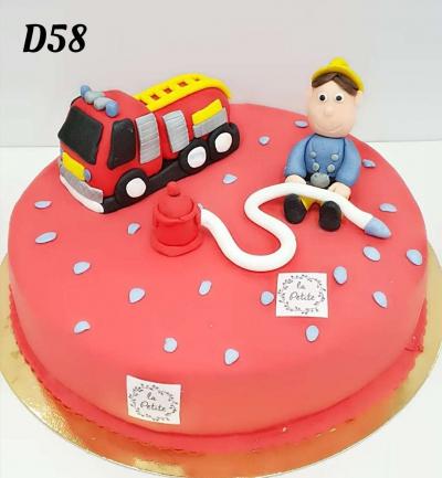 Tort 3D strażak