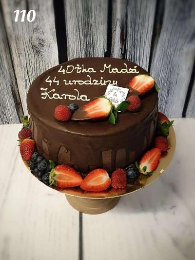 Tort Drip Cake czekoladowo-truskakowy