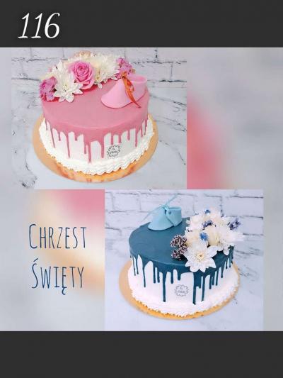 Torty okazjonalne- Chrzest sw. Drip Cake