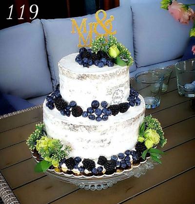 Tort nacked cake- borówki, jezyny