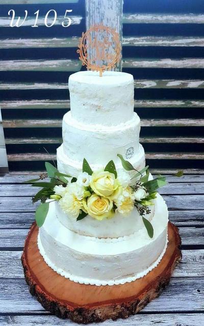 Tort weselny natulalny