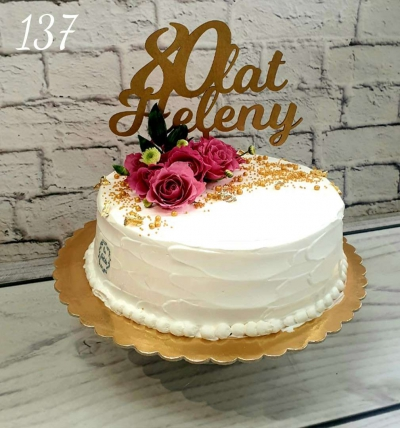 137-Tort urodzinowy w śmietance