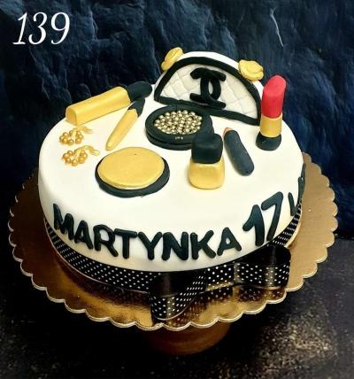 139-Tort 3 D kosmetyki złote