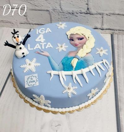 D-70 Tort Urodzinowy 3 D- Kraina Lodu