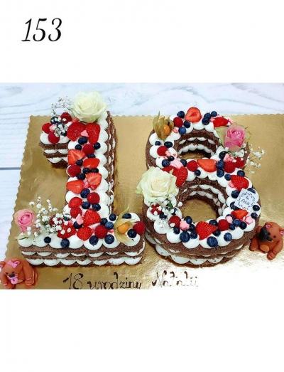 7.Tort urodzinowy- cyfry- naked cake