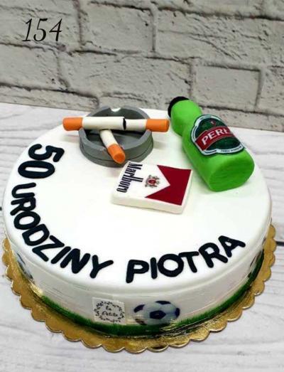 8.Tort urodzinowy -3D- papierosy, piwko