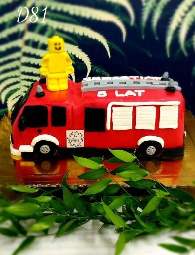 D81_Tort wóz strażacki 3D
