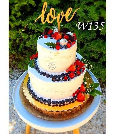 Tort Naked Cake z owocami sezonowymi