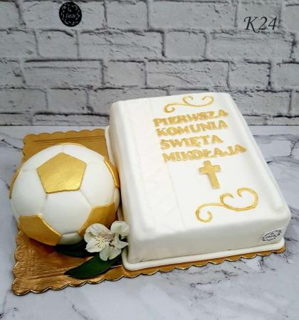 Tort komunijny w masie ticino księga z piłką