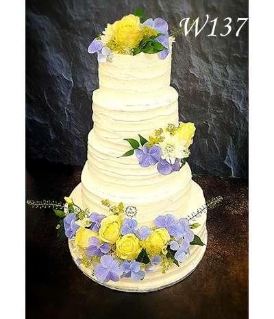 Tort weselny w śmietance bianco Niebo