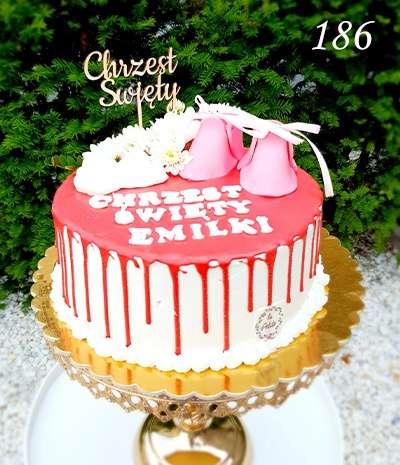 drip cake chrzest
